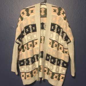 TEA N CUP Super Soft and Oversized Aztec Cardigan